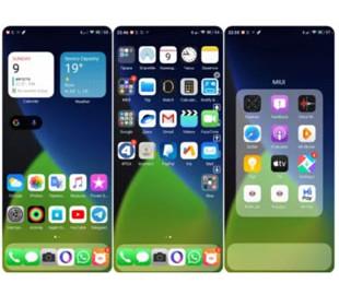 Новая тема делает MIUI 11 похожей на iOS 14