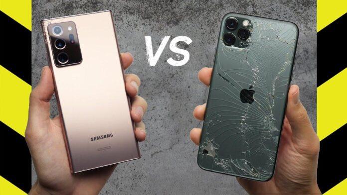 Тест на выживаемость Samsung Galaxy Note 20 Ultra и iPhone 11 Pro Max. Неожиданный результат