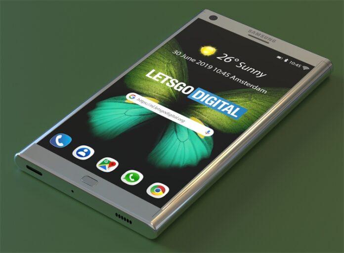 Samsung впервые показала смартфон со сворачивающимся экраном