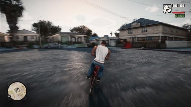 GTA: San Andreas показали в новой реалистичной графике