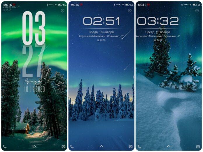 Новогодняя тема для MIUI 12 преображает смартфоны Xiaomi