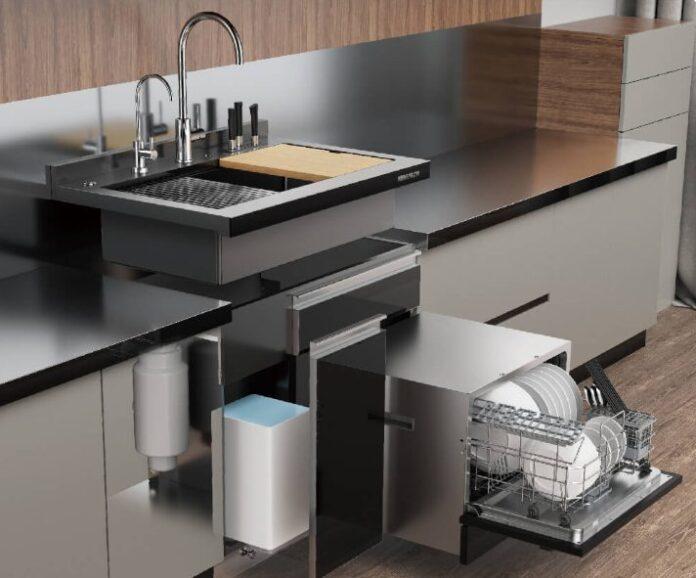 Xiaomi выпустила модульную мойку для кухни с встроенной посудомоечной машиной, фильтром для воды и не только