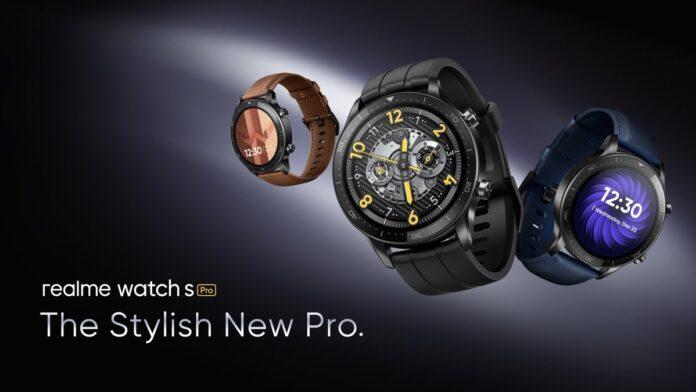 """Представлены Realme Watch S Pro: стильные """"умные"""" часы с OLED-дисплеем, GNSS, SpO2 и 14 дней без зарядки"""