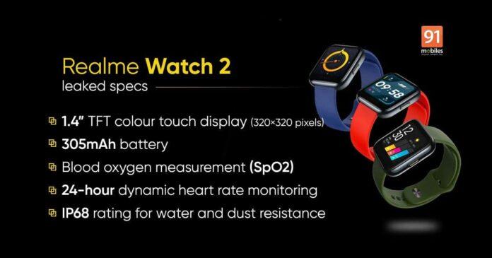 Realme Watch 2: известны характеристики и стоимость