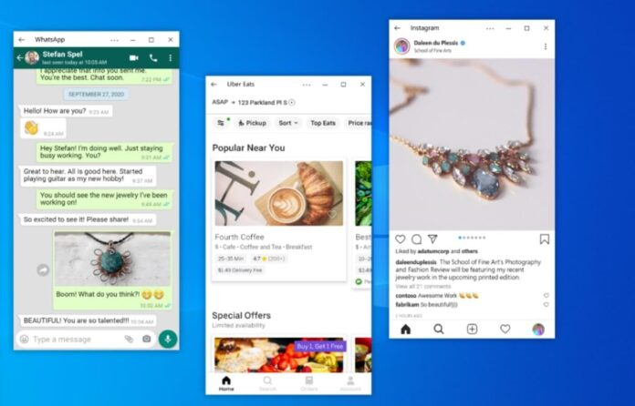 В Windows 10 появилась возможность управлять несколькими Android приложениями