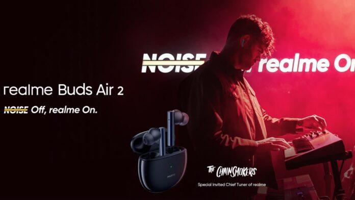 Презентовали доступные realme Buds Air 2: 10-мм динамик, Bass Boost +, ANC и ENC, 25 часов автономности
