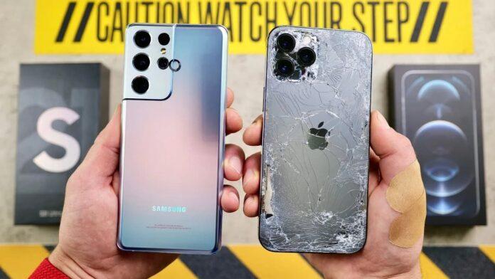 Сравнили прочность Samsung S21 Ultra и iPhone 12 Pro Max. Выводы неоднозначные