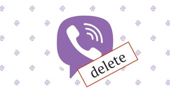 Удаление учетной записи и личных данных из Viber