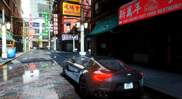 Реалистичная графика GTA V в 8K с трассировкой лучей