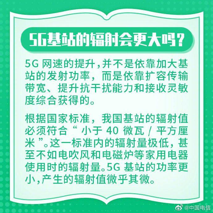 Базовая станция 5G имеет меньше излучения, чем фен