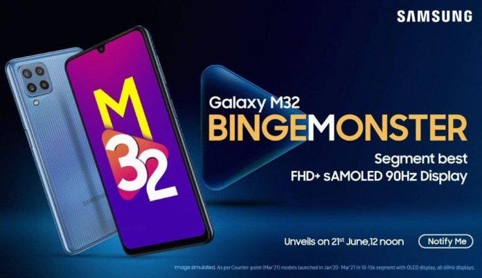 Представлен Samsung Galaxy M32: AMOLED дисплей 90 Гц и батарея на 6000 мАч