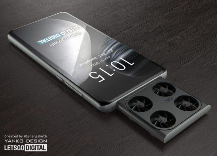 Vivo может выпустить смартфон с летающей камерой-квадрокоптером