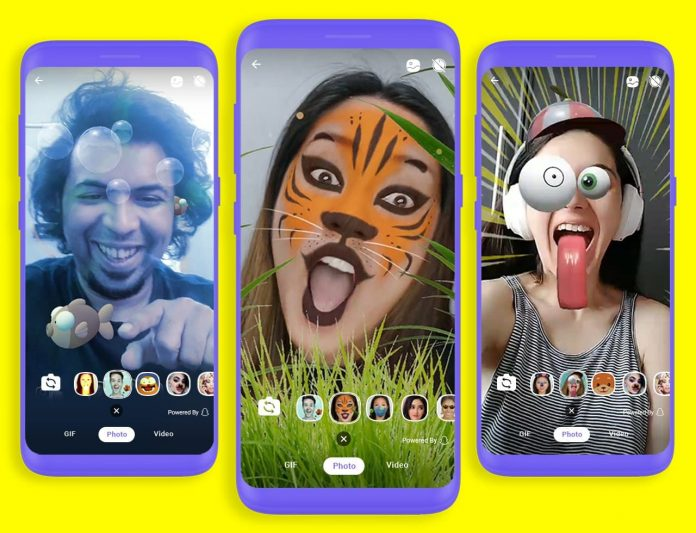 Фильтры Snapchat появятся в Viber