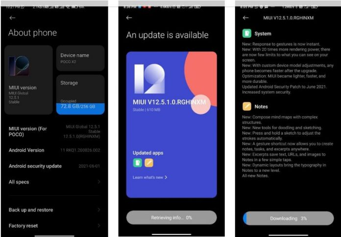 Владельцы ещё одного смартфона Poco начали получать MIUI 12.5