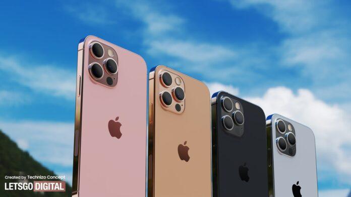 Впервые показали iPhone 13 Pro в золотом и розовом цвете
