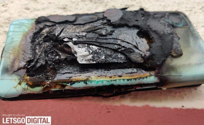 Ещё один смартфон китайского производства взорвался