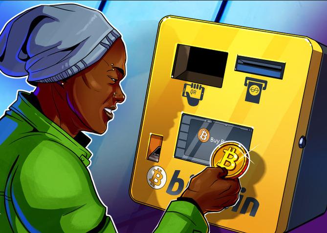 Появился первый в мире банкомат для биткоинов