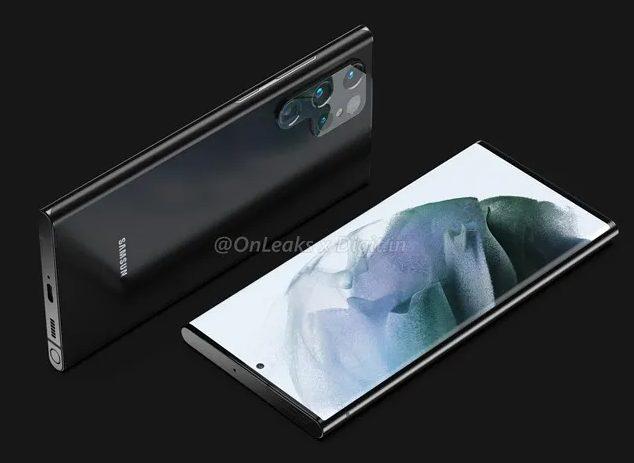 Дизайн Samsung Galaxy S22 Ultra будет сильно выделяться на фоне флагманов Xiaomi