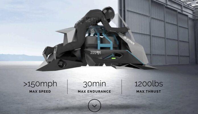 Jetpack Aviation открыла предзаказ на первый летающий мотоцикл