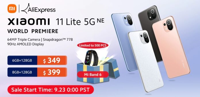 Xiaomi Mi 11 Lite NE доступен на AliExpress со значительной скидкой