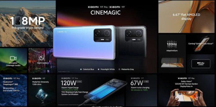 Представлены Xiaomi 11T и 11T Pro: флагманы с полной зарядкой за 17 минут