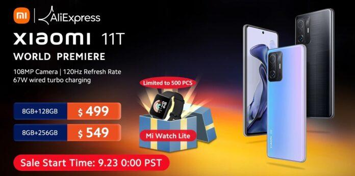 Xiaomi 11T доступен со скидкой на AliExpress